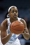 02 January 2014: North Carolina's Xylina McDaniel. The University of North Carolina Tar Heels played the James Madison University Dukes in an NCAA Division I women's basketball game at Carmichael Arena in Chapel Hill, North Carolina.