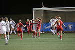 SALEM, VA - DECEMBER 3:The Bears celebrate a goal during theDivision III Women's Soccer Championship held at Kerr Stadium on December 3, 2016 in Salem, Virginia. Washington St Louis defeated Messiah 5-4 in PKs for the national title. (Photo by Kelsey Grant/NCAA Photos)