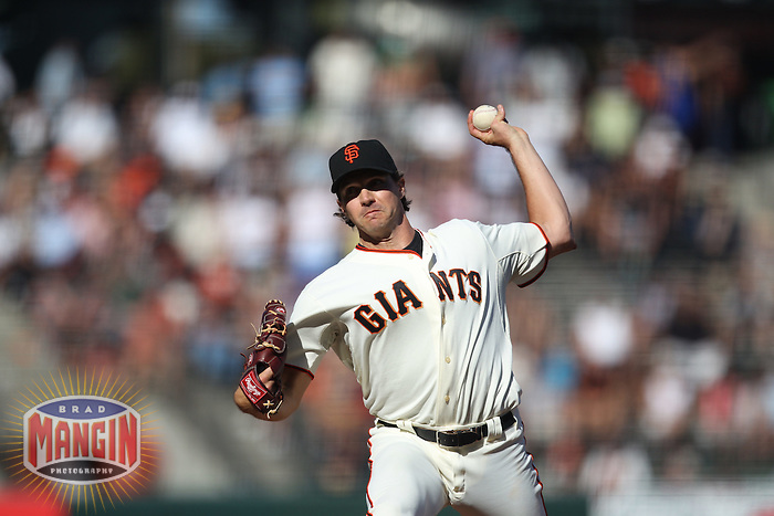 SAN FRANCISCO - AUGUST 25:  Barry Zito of the San Francisco Giants pitches against the Cincinnati Reds during the game at AT&T Park on August 25, 2010 in San Francisco, California. Photo by Brad Mangin