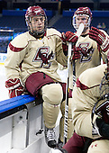 Steven Whitney (BC - 21) (Dyroff) - The Boston College Eagles practiced on Wednesday, April 4, 2012, during the 2012 Frozen Four at the Tampa Bay Times Forum in Tampa, Florida.