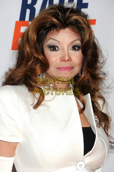 LA TOYA JACKSON.18th Annual Race To Erase MS held at the Hyatt Regency Century Plaza Hotel, Century City, California, USA..April 29th, 2011.headshot portrait make-up beauty white jacket .CAP/ADM/BP.©Byron Purvis/AdMedia/Capital Pictures.