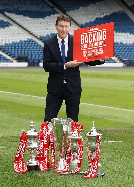 Gordon Smith at Hampden Park as Ladbrokes Ambassador for the SPFL