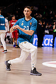 9th February 2018, Wiznik Centre, Madrid, Spain; Euroleague Basketball, Real Madrid versus Olympiacos Piraeus; Jaycee Carroll (Real Madrid Baloncesto) Pre-match warm-up