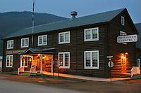 Dawson City visitors information log cabin. Dawson, YT Canada