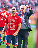 Trainer Cheftrainer Jupp HEYNCKES (FCB) celebration and Franck RIBERY, FCB 7 <br />