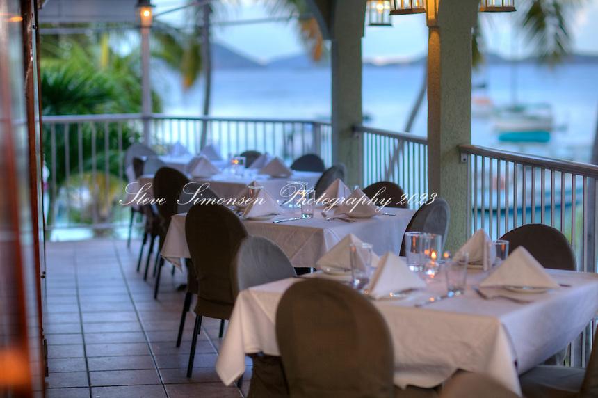 The Terrace Restaurant, Cruz Bay <br /> St. John<br /> U.S. Virgin Islands