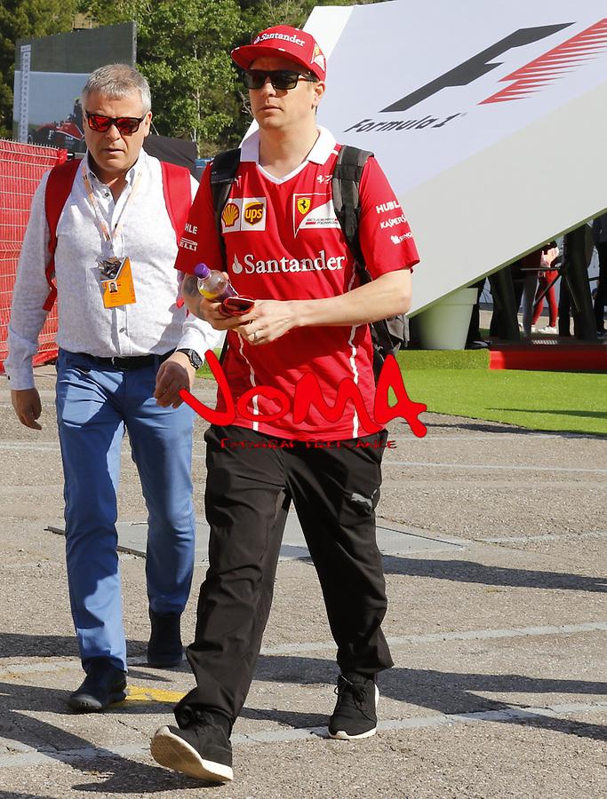 Kimi Raikkonen (FIN) Ferrari at  Formula 1, Spanish Grand Prix, Barcelona.
