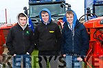 Enjoying the 10th Annual Maurice Collins Memorial Vintage day on the lands of Gerard McCarthy Banna West, Ardfert on Sunday were Michael Clifford, Dermot McCarthy and Ethan Kerin from Castleisland