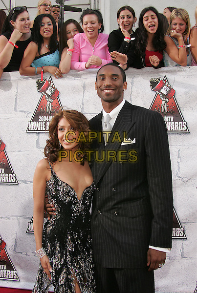 KOBE BRYANT & WIFE VANESSA.at the 2004 MTV Movie Awards held at The Sony Picture Studios in Culver City, .California,.June 6th 2004.half length half-length married.*UK sales only*.www.capitalpictures.com.sales@capitalpictures.com.©Capital Pictures