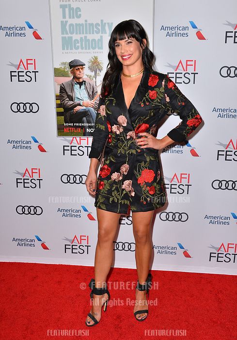 "LOS ANGELES, CA. November 10, 2018: Jenna Lyng Adams at the AFI Fest 2018 world premiere of ""The Kominsky Method"" at the TCL Chinese Theatre.<br /> Picture: Paul Smith/Featureflash"