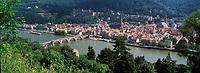Europe/Allemagne/Bade-Würrtemberg/Heidelberg: la ville et la vallée du Neckar vue depuis le chemin des Philosophes