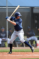 Tampa Bay Rays minor league second baseman Coty Blanchard (80) during an extended spring training game against the Boston Red Sox on April 16, 2014 at Charlotte Sports Park in Port Charlotte, Florida.  (Mike Janes/Four Seam Images)