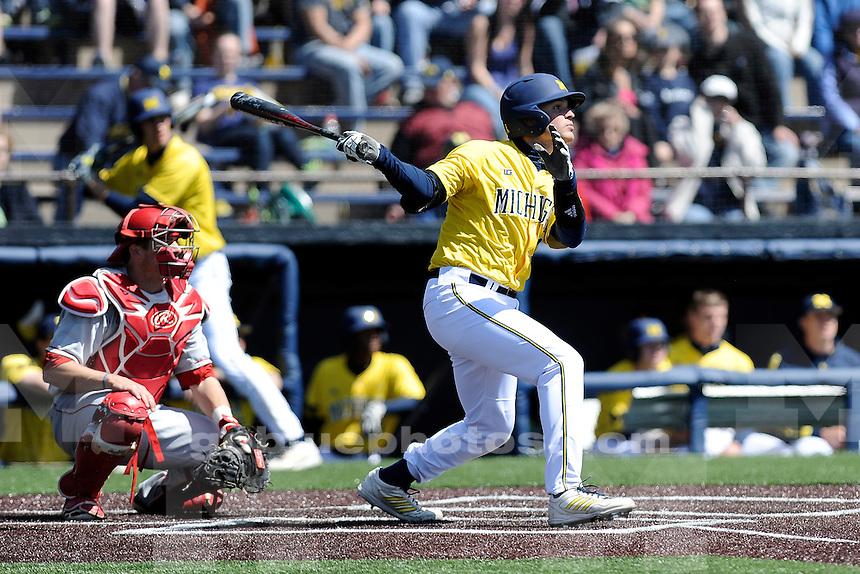 Michigan baseball loses to Nebraska, 3-1, Saturday, April 26, 2014, at Ray Fisher Stadium in the Wilpon Baseball/Softball Complex.