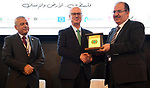 Palestinian Prime Minister Rami Hamdallah attends the first Palestine International Land Conference in the West Bank city of Ramallah on December 13, 2018. Photo by Prime Minister Office