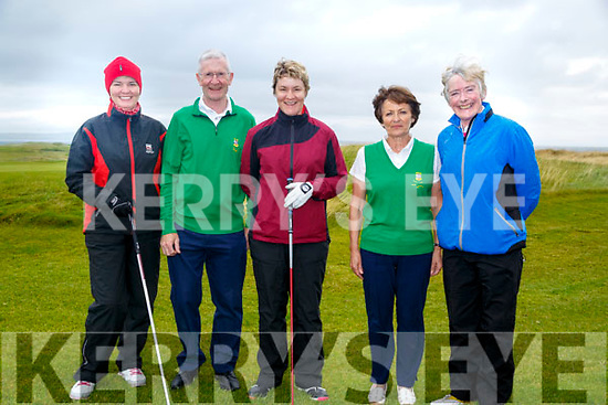 On Sunday ladies who played in the President of Tralee Golf Club Ladies Golf competition Faith Morrissy,Des Fitzgerald (president), Emma Morrissey,Margaret Murphy (Lady Capt) and Margaret Hayes