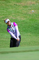 Brooke M. Henderson (CAN) chips on to 12 during round 1 of  the Volunteers of America Texas Shootout Presented by JTBC, at the Las Colinas Country Club in Irving, Texas, USA. 4/27/2017.<br /> Picture: Golffile | Ken Murray<br /> <br /> <br /> All photo usage must carry mandatory copyright credit (&copy; Golffile | Ken Murray)