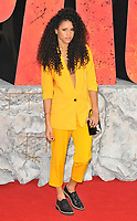 Vick Hope at the &quot;Rampage&quot; European film premiere, Cineworld Empire, Leicester Square, London, England, UK, on Wednesday 11 April 2018.<br /> CAP/CAN<br /> &copy;CAN/Capital Pictures