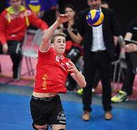 Volleyball 1. Bundesliga  Saison 2017/2018 TV Rottenburg - Hypo Tirol Alpen Volleys Haching     27.12.2017 Timon Schippmann (TV Rottenburg)