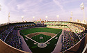 CIRCA 1990:  General view overall of Comiskey Park in Chicago. Illinois, home of the Chicago White Sox. (Photo by: 1990 : SportPics : Comiskey Park