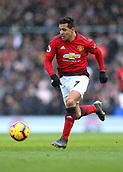 9th February 2019, Craven Cottage, London, England; EPL Premier League football, Fulham versus Manchester United; Alexis Sanchez of Manchester United sprinting with the ball