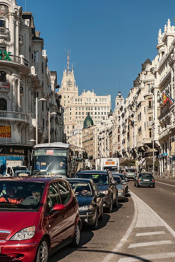 Gran Via, Madrid, Spain