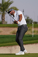 Dustin Johnson (USA) on the 13th during Round 3 of the Saudi International at the Royal Greens Golf and Country Club, King Abdullah Economic City, Saudi Arabia. 01/02/2020<br /> Picture: Golffile | Thos Caffrey<br /> <br /> <br /> All photo usage must carry mandatory copyright credit (© Golffile | Thos Caffrey)