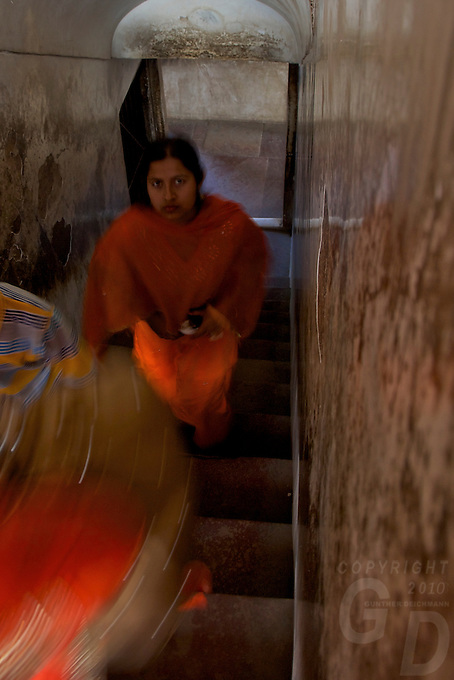Women In the Corridors of the Agra Fort Agra India