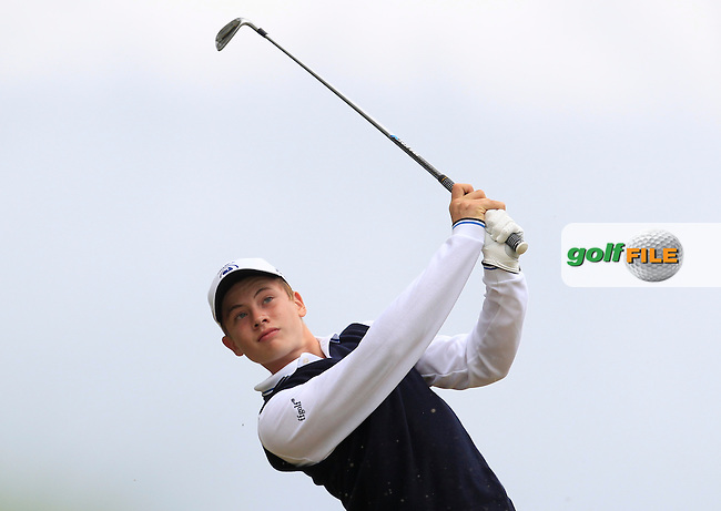 America Laussot (France) on the 7th tee during Round 2 of the Irish Boys Amateur Open Championship at Tuam Golf Club on Wednesday 24th June 2015.<br /> Picture:  Thos Caffrey / www.golffile.ie