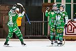 Stockholm 2013-11-26 Bandy Elitserien Hammarby IF - Edsbyns IF :  <br /> Hammarby Jesper Jonsson jublar med lagkamrater efter sitt 3-1<br /> (Foto: Kenta J&ouml;nsson) Nyckelord:  jubel gl&auml;dje lycka glad happy