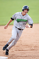 July 1, 2009:  Third Baseman Chase Austin (8) of the Jamestown Jammers runs the bases during a game at Dwyer Stadium in Batavia, NY.  The Jammers are the NY-Penn League Short-Season Class-A affiliate of the Florida Marlins.  Photo by:  Mike Janes/Four Seam Images