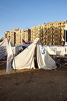 EGYPT / Cairo / The anti-Morsi protesters' camp in the middle of Tahrir Square in Cairo.  ..© Giulia Marchi / Anzenberger