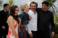 Stephane Rideau, Tania Casciani and Romina Iniesta and  Victor Lopez attend the photocall for 'Murder Me, Monster (Meurs, Monstre, Meurs)' during the 71st annual Cannes Film Festival at Palais des Festivals on May 13, 2018 in Cannes, France.<br /> CAP/GOL<br /> &copy;GOL/Capital Pictures