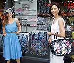 Amy London and Lauri Landry are showing of Jane's Luggage at Phantom of Broadway (1607 Broadway). Jane Elissa has her art designs in a gallery at Dr. Cohen's office - 333 W. 52nd Street, New York City, New York for view. Jane donates to Leukemia/Lymphoma Society. (Photo by Sue Coflin/Max Photos)