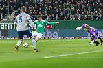 08.03.2019, Weser Stadion, Bremen, GER, 1.FBL, Werder Bremen vs FC Schalke 04, <br /> <br /> DFL REGULATIONS PROHIBIT ANY USE OF PHOTOGRAPHS AS IMAGE SEQUENCES AND/OR QUASI-VIDEO.<br /> <br />  im Bild<br /> <br /> Milot Rashica (Werder Bremen #11) zum 3:1 gegen Alexander N&uuml;bel / Nuebel (FC Schalke 04 #35)<br /> <br /> Foto &copy; nordphoto / Kokenge