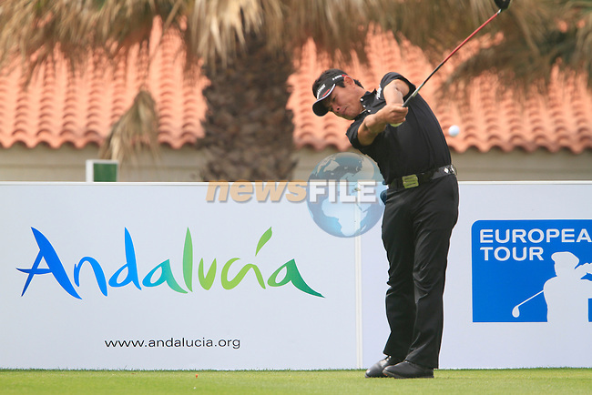 Tetsuji Hiratsuka (JPN) tees off on the 1st tee during Day 2 Friday of the Open de Andalucia de Golf at Parador Golf Club Malaga 25th March 2011. (Photo Eoin Clarke/Golffile 2011)