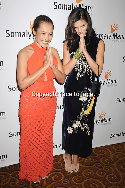 NEW YORK, NY - OCTOBER 23: Somaly Mam, AnnaLynne McCord at Somaly Mam Foundation's &quot;Life Is Love&quot; Gala to celebrate hope, action and change in the fight to end slavery at Gotham Hall in New York. October 23, 2013. <br />