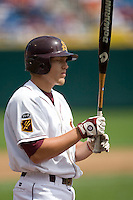 Arizona State's Drew Maggi in Game 4 of the NCAA Division One Men's College World Series on Monday June 21st, 2010 at Johnny Rosenblatt Stadium in Omaha, Nebraska.  (Photo by Andrew Woolley / Four Seam Images)
