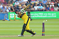 Cameron Bancroft of Gloucestershire is bowled out by Paul Walter during Gloucestershire vs Essex Eagles, NatWest T20 Blast Cricket at The Brightside Ground on 13th August 2017