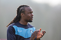 Marcus Bean of Wycombe Wanderers applauds the support during the Sky Bet League 2 match between Wycombe Wanderers and Stevenage at Adams Park, High Wycombe, England on 12 March 2016. Photo by Andy Rowland/PRiME Media Images.