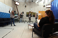 Pictured: A television studio at Trowbridge Campus. Monday 22 September 2014<br /> Re: Cardiff and Vale College.