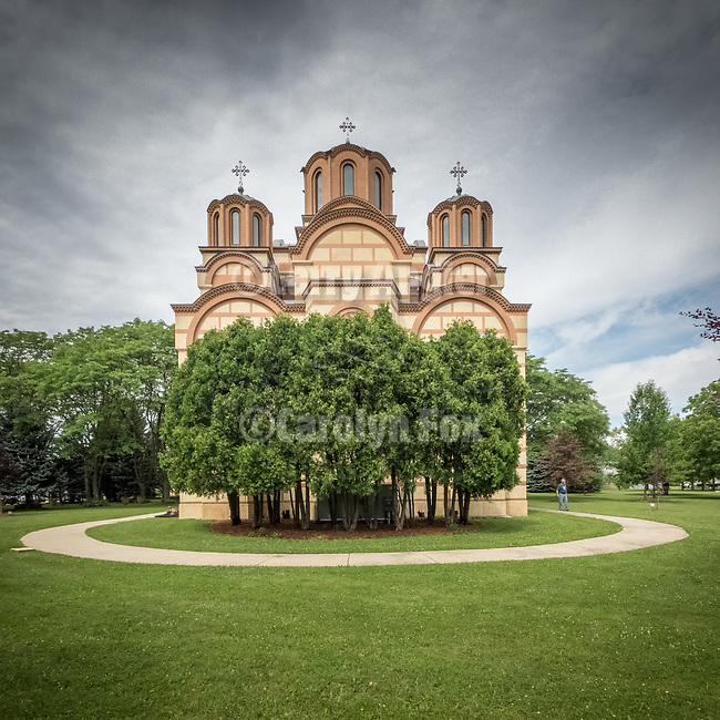 Exterior, Monastery New Gracanica, Third Lake, Illinois<br /> <br /> The chapel is dedicated to the Protection of the Most Holy Mother of God