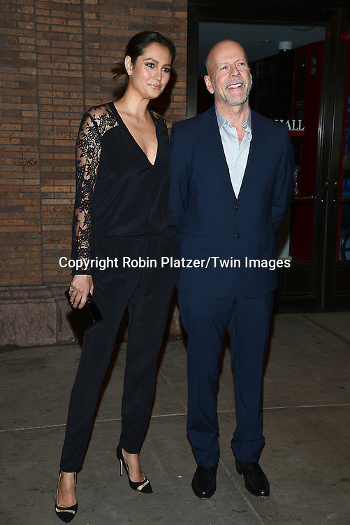 Emma Heming and Bruce Willis attend the Glamour Women of the Year Awards on November 10, 2014 at Carnegie Hall in New York City. <br /> <br /> photo by Robin Platzer/Twin Images<br />  <br /> phone number 212-935-0770
