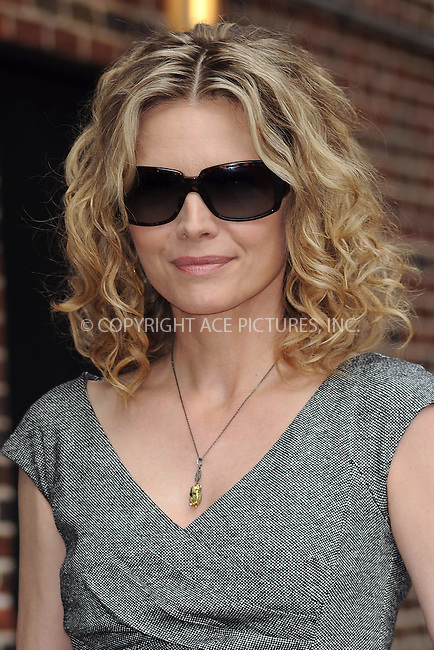 WWW.ACEPIXS.COM . . . . . ....June 16 2009, New York City....Actress Michelle Pfeiffer made an appearance at the 'Late Show With David Letterman' at the Ed Sullivan Theater on June 16, 2009 in New York City.....Please byline: KRISTIN CALLAHAN - ACEPIXS.COM.. . . . . . ..Ace Pictures, Inc:  ..tel: (212) 243 8787 or (646) 769 0430..e-mail: info@acepixs.com..web: http://www.acepixs.com