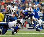 3 December 2006: Buffalo Bills running back Willis McGahee (21) in action against the San Diego Chargers at Ralph Wilson Stadium in Orchard Park, New York. The Charges defeated the Bills 24-21. Mandatory Photo Credit: Ed Wolfstein Photo<br />