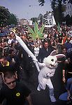 Legalise Pot march and rally Clapham Common London 1980s. UK