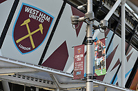 West Ham Crest on the London Stadium during West Ham United vs Burnley, Premier League Football at The London Stadium on 3rd November 2018