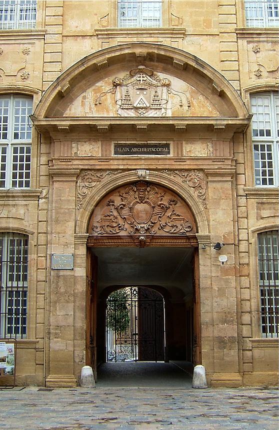 The Palais Archepiscopal in Aix-en-Provence, France.