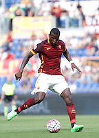 Calcio, Serie A: Roma vs Sassuolo. Roma, stadio Olimpico, 20 settembre 2015.<br /> Roma&rsquo;s Antonio Ruediger in action during the Italian Serie A football match between Roma and Sassuolo at Rome's Olympic stadium, 20 September 2015.<br /> UPDATE IMAGES PRESS/Isabella Bonotto