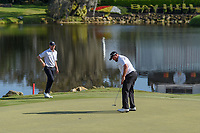 Shane Lowry (IRL) sinks his putt on 18 during round 2 of the Arnold Palmer Invitational at Bay Hill Golf Club, Bay Hill, Florida. 3/8/2019.<br /> Picture: Golffile | Ken Murray<br /> <br /> <br /> All photo usage must carry mandatory copyright credit (&copy; Golffile | Ken Murray)