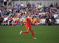 Kansas City, MO - Saturday May 07, 2016: Houston Dash defender Ellie Brush (8) against FC Kansas City during a regular season National Women's Soccer League (NWSL) match at Swope Soccer Village. Houston won 2-1.